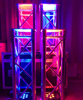 Truss with LED lighting