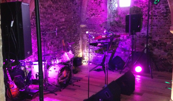 One of our sound and lighting setups